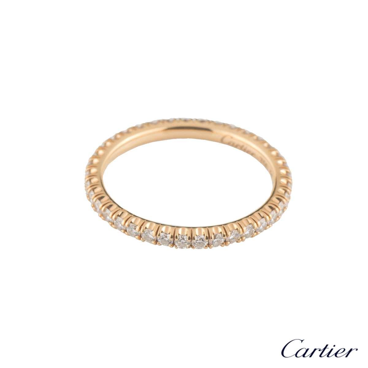 Etincelle Bands: Cartier Rose Gold Diamond Etincelle Ring B4086550
